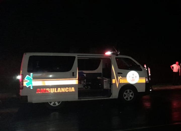 accidente de motocicleta en autopista Palín-Escuintla