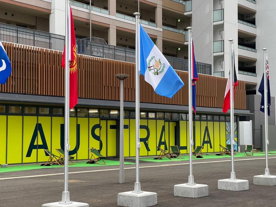 Bandera guatemalteca ya ondea en Tokio, Japón