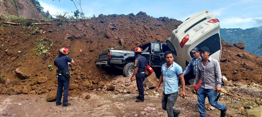 Derrumbe en Tajumulco, San Marcos
