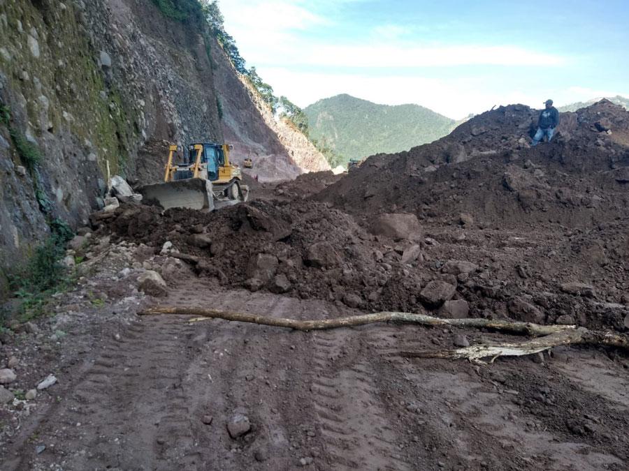 Derrumbe en Tocuto, Tajumulco, San Marcos