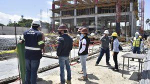 Mintrab inspecciona zona donde colapsó obra en construcción en zona 13