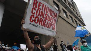 manifestación frente al Ministerio Público durante paro nacional del 29 de julio