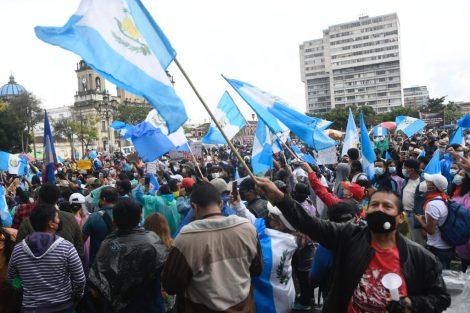manifestación en plaza de la Constitución por paro nacional del 29 de julio