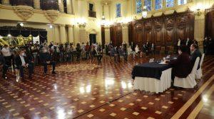conferencia del presidente Alejandro Giammattei y ministra Amelia Flores