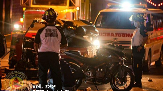 choque de moto y mototaxi en zona 6