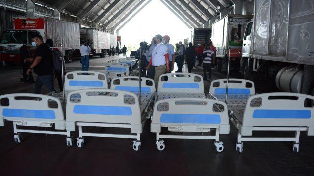 donan camas para el hospital temporal del Parque de la Industria