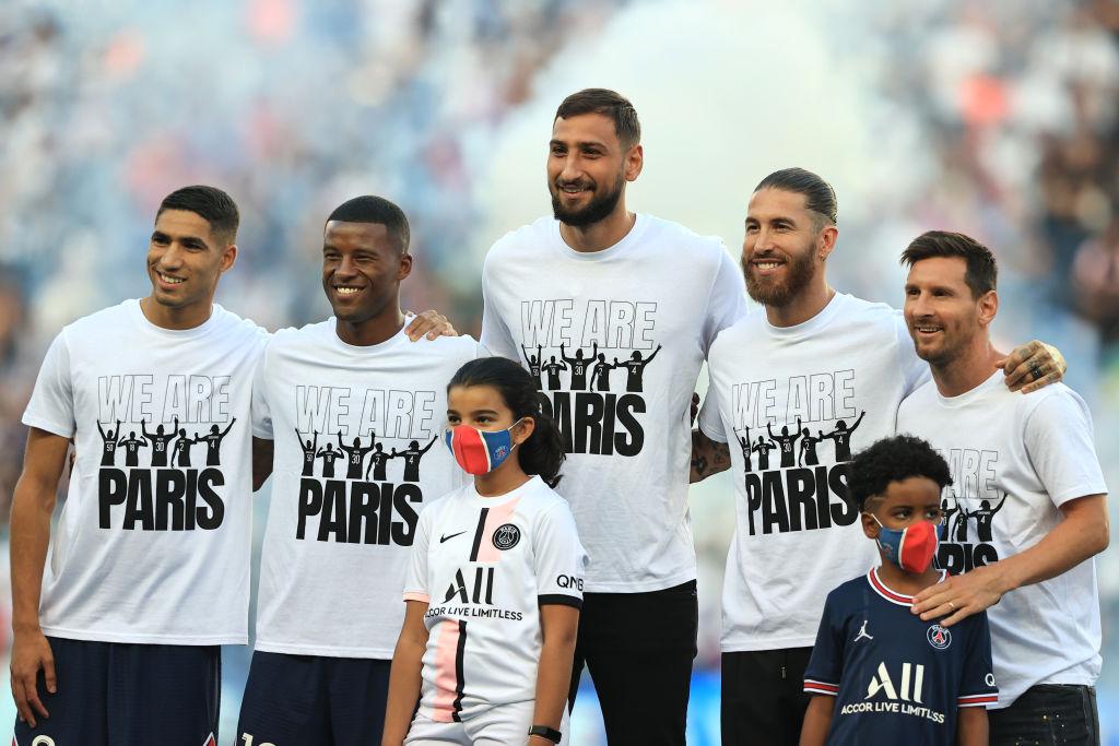 Lionel Messi en la presentación de los nuevos refuerzos del PSG