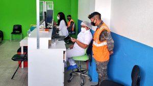 Centro de vacunación en Mariscal Zavala