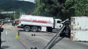 accidente en Km. 21 de ruta Interamericana