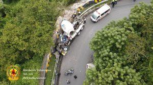 accidente de tránsito en ruta a San Pedro Ayampuc