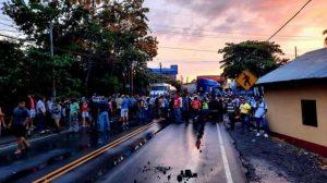 bloqueo en Cuyotenango, Suchitepéquez