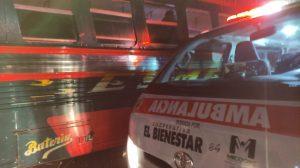 Choque protagonizado por bus Esmeralda y trailer en Cito Zarco