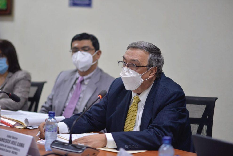 citación al ministro de Salud, Francisco Coma