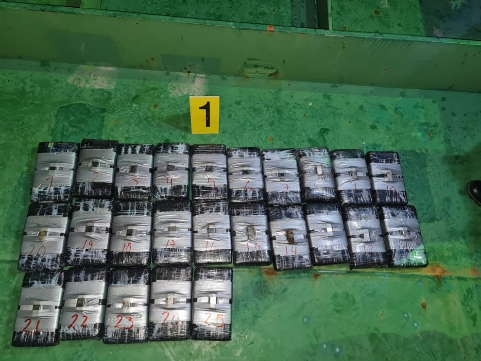 Izabal: Localizan cocaína en buque proveniente de Colombia