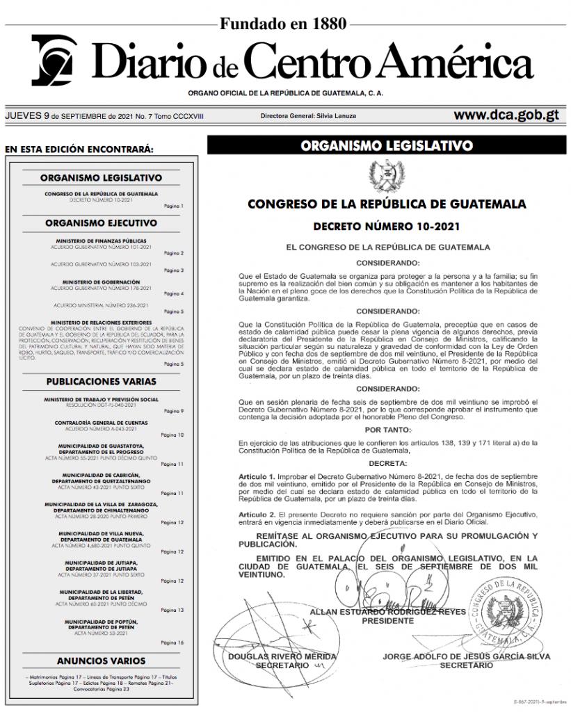Congreso oficializa improbación del estado de Calamidad por Covid-19