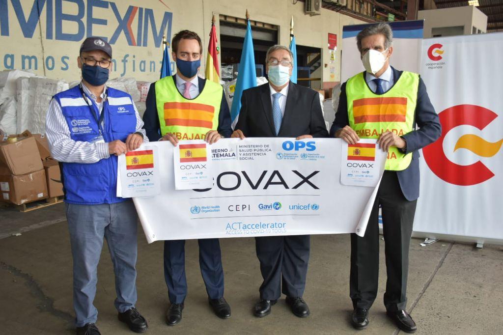 Guatemala recibe vacunas contra Covid-19 donadas por España