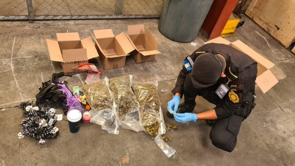 marihuana localizada en encomienda