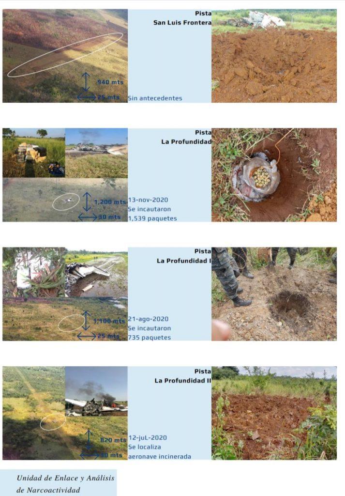 inhabilitan pistas clandestinas en Petén