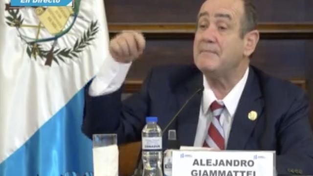 presidente Alejandro Giammattei se refiere al Covid-19