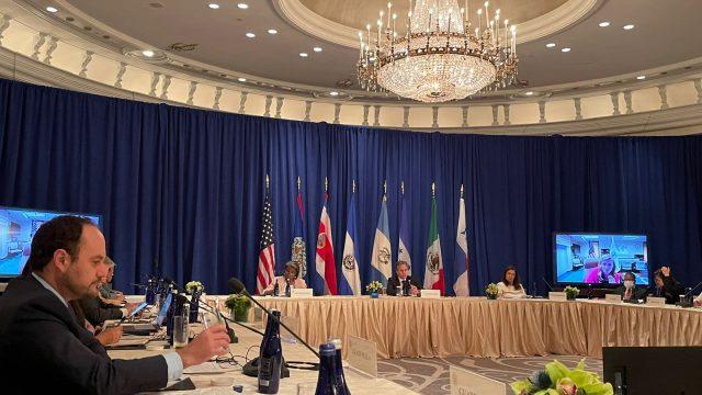 reunión de cancilleres de Centroamérica y México con el jefe de la diplomacia estadounidense, Antony Blinken