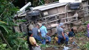 accidente de bus en Alta Verapaz