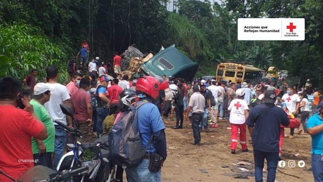 múltiple colisión en Quetzaltenango