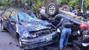 accidente en Km. 24 de ruta Interamericana