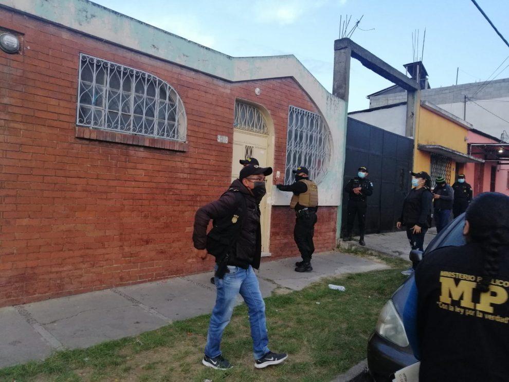 allanamientos contra extorsiones en Guatemala y Mixco