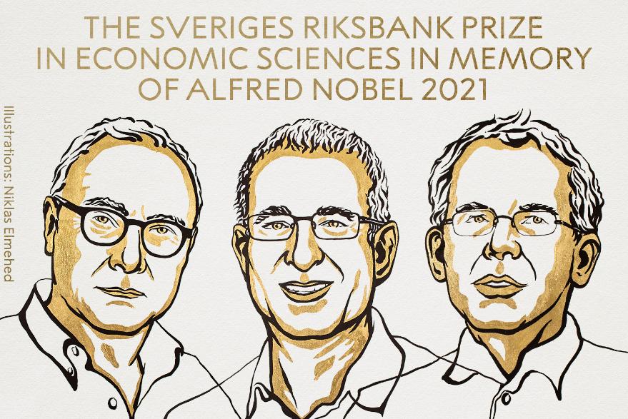 David Card, Joshua Angrist y Guido Imbens ganadores del Premio Nobel de Economía 2021
